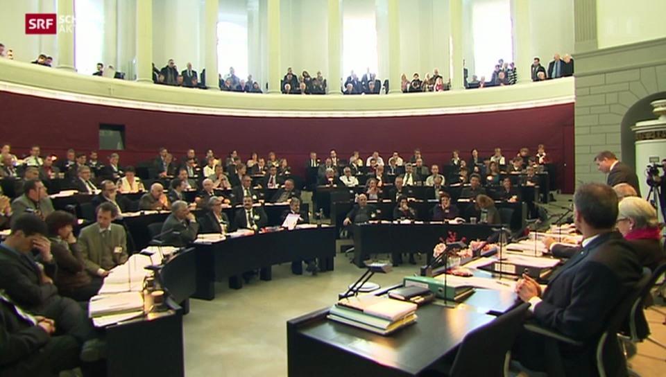 Debatte im Kantonsratssaal Luzern
